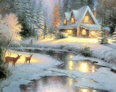 Thomas Kinkade ~ Christmas ~ / ImpressioniArtistiche