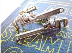 The Steampunk Miniature Pipe Wrenches Cufflinks for the Suave Dresser