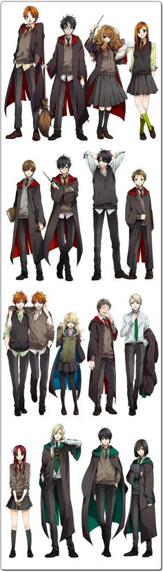 If Harry Potter were to turn into an anime series. This illustration is by Nakagawa Besu. Me: If Harry Potter turned into an anime they'd be TOO hawt! Harry Potter Anime, Art Harry Potter, Harry Potter Universal, Harry Potter Fandom, Manga Tv, Tv Anime, Anime Plus, James Potter, Anime Yugioh