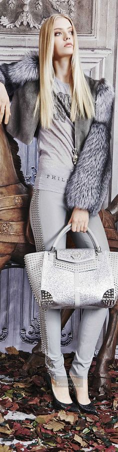 Color Desire | GREY | RosamariaGFrangin || Philipp Plein.Pre-Fall 2015.