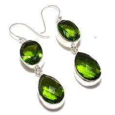 Dangle Earrings – Peridot -925 Silver Drop & Dangle Earrings ... – a unique product by 925silvercollection on DaWanda