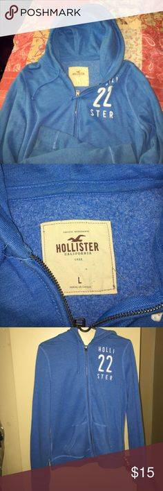 Hollister Light Blue Hoodie I bought this hoodie a while ago and I have only worn it a couple of times. Hollister Tops Sweatshirts & Hoodies