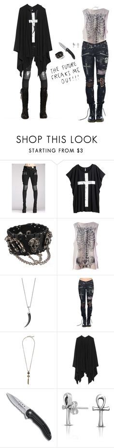 """""""Crosses on your Eyes"""" by vogelprinz ❤ liked on Polyvore featuring H&M, Bullet, Iron Fist, Shaun Leane, Lucky Brand, The Row and Bling Jewelry"""