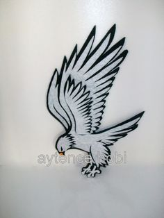 Whitehall products 36 in black wall eagle bald eagle for Whitehall tattoo supply
