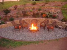 Need a new fire pit area that is attractive and accommodating! Garden Fire Pit, Diy Fire Pit, Fire Pit Backyard, Backyard Paradise, Backyard Retreat, Backyard Ideas, Firepit Ideas, Outdoor Ideas, Fire Pit Seating