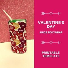 Valentine's Day Juice Box Free Printable - HomeRoom Mom