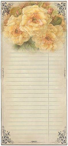 vintage list/ledger paper