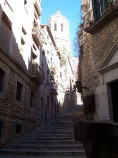 Street of the Jewry, Girona, Catalonia, Spain