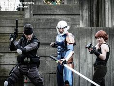 Solid Snake, Gray Fox & Meryl - Metal Gear Solid cosplay by ~mustang-revolver on deviantART