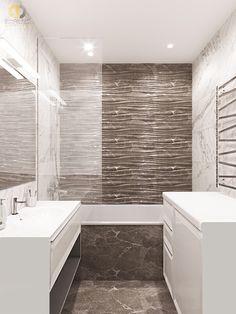 Дизайн интерьера ванной в двухкомнатной квартире 81 кв.м в стиле неоклассика с элементами ар-деко2 Alcove, Bathtub, Bathroom, Projects, Standing Bath, Washroom, Log Projects, Bathtubs, Blue Prints