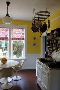 LL - Just pinning this since we may have yellow walls & white cabinets eventually.