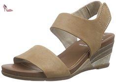 Jana Damen 28600 Offene Sandalen mit Keilabsatz, Braun (Taupe Suede 377),38 EU(5 UK)