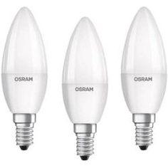 Osram Candle Shape Base Classic B Led Lamp E14 Cool White 5 W Set Of 3