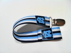paci clip for a baby Tar Heel.  Featured on Etsy.