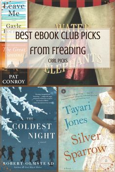CRRL Picks: Best eBook Club Picks from Freading- Interested in starting an eBook club? Freading offers some of their best, always available eBooks for book club reads.