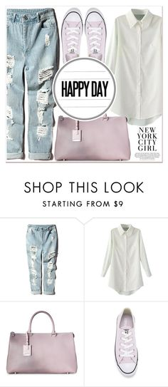 """""""Happy Day"""" by lucky-1990 ❤ liked on Polyvore featuring Jil Sander and Converse"""