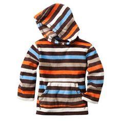 Jumping Beans Striped Fleece Hoodie - Toddler