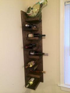The Best Small Corner Wine Cabinet Ideas. If you are a Wine fan, you may always have a place to store your favorite Wine available. Why not show it off as part of the decor? This amazing Wine shelf… Corner Wine Cabinet, Corner Wine Bar, Corner Wall, Small Corner, Wine Shelves, Wine Storage, Wine Rack Inspiration, Wine Rack Design, Wine Rack Wall