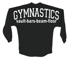 Gymnastics spirit jersey style shirt,oversized decal on the back, small logo on the front, custom gymnastics shirt,full back logo printing