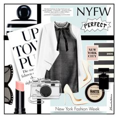 """""""New York Fashion Week"""" by zarabatavia ❤ liked on Polyvore featuring Marc Jacobs, Rebecca Taylor, Italia Independent, DAMIR DOMA, Christian Louboutin, Kate Spade, Maybelline, Chanel, Narciso Rodriguez and women's clothing"""