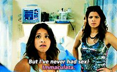 """For starters, the main character, Jane, is a virgin. But she was accidentally inseminated by her OB-GYN, so now she's a pregnant virgin. 