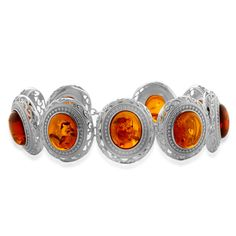 Liquidation Channel | Baltic Amber Bracelet in Sterling Silver (Nickel Free)
