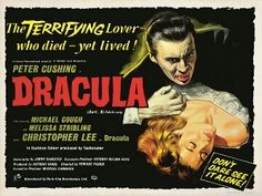 Dracula Film, Count Dracula, Frankenstein, Above The Line, Short Horror Stories, Halloween Film, Peter Cushing, Hammer Films, Vincent Price
