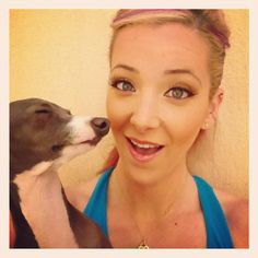 Jenna Marbles. She's funny, but my fav part of her videos is when this little dog makes an appearance :)