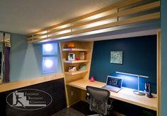 basement home office   Basement Contemporary Office contemporary-home-office