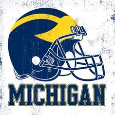 University of Michigan, Helmet Vintage Round Sign