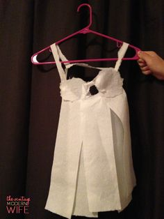 Tired of the same old boring games played at bridal showers? Try this hilarious game by The Vintage Modern Wife! It's the Best Bridal Shower Game Ever: Toilet Paper Lingerie! This particular set is a Cottonelle lingerie babydoll
