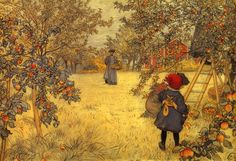 The Apple Orchard - Carl Larsson