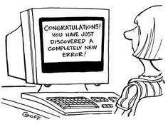 Makes a change from Error 404! Enjoy the weekend~Heidi #funfriday #error…