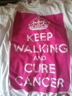 breast cancer walk shirt keep calm
