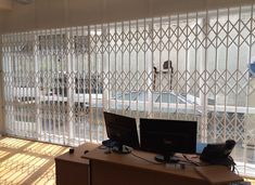 Our RSG1000 retractable security window grilles fitted last year to offices situated on the opposite of Farringdon Station.