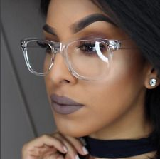 01782a5e44297 CRYSTAL SEE TROUGH Square Clear Fra... Eye Frames