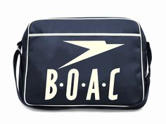 Sean Adams' BOAC bag - I had one of these. Carried it on every flight with my teddy sitting in it, with his head out so he could breath! Airline Logo, Airline Travel, Flight Bag, Flight Deck, Retro Design, Vintage Designs, Graphic Design, Sean Adams, Retro Logos
