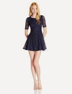 lace dress: Blue Lace Dress