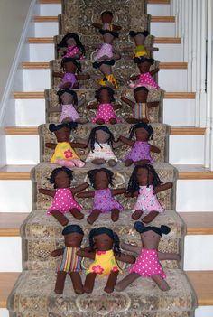 Handmade African Dolls. $16.00, via Etsy. love these for the girls!