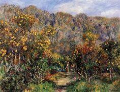 Landscape with Mimosas, 1912  - Pierre-Auguste Renoir
