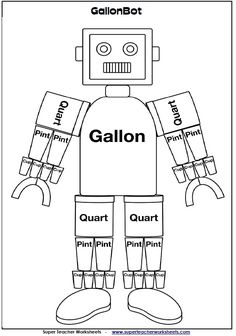 Gallon Man Bulletin Board Set | Notebooks, Ps and Poster