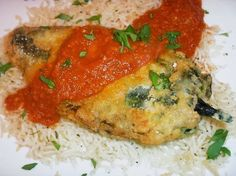 The Briny Lemon: Chiles Rellenos with Chipotle Red Sauce