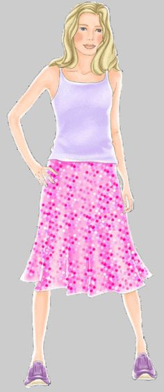 free bell skirt pattern