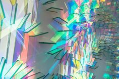 Cambridge-based artist Chris Wood continues to produce stunning light sculptures utilizing panels of dichroic glass that refract light in a vivid array of color.