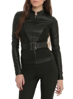 Marvel By Her Universe Black Widow Girls Belted Jacket | Hot Topic
