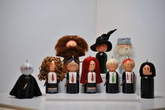 Harry Potter inspired peg people by JaysPegs on Etsy