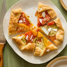 A recipe for Heirloom Tomato Galette. Perfect for using those summer tomatoes!