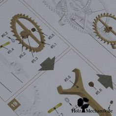 "Plans of the weight driven wooden clock ""Zentira"" from Christopher Blasius"
