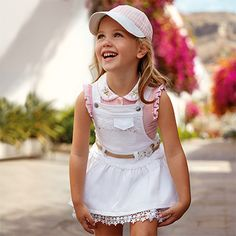 You will find all girls mode products in this sole section at Mayoral. Blush Flower Girl Dresses, Little Girl Dresses, Baby Girl Dress Patterns, Baby Dress, Young Fashion, Kids Fashion, Moda Kids, Frocks For Girls, Culottes