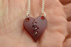 My Mended Heart Laser Cut Acrylic Necklace